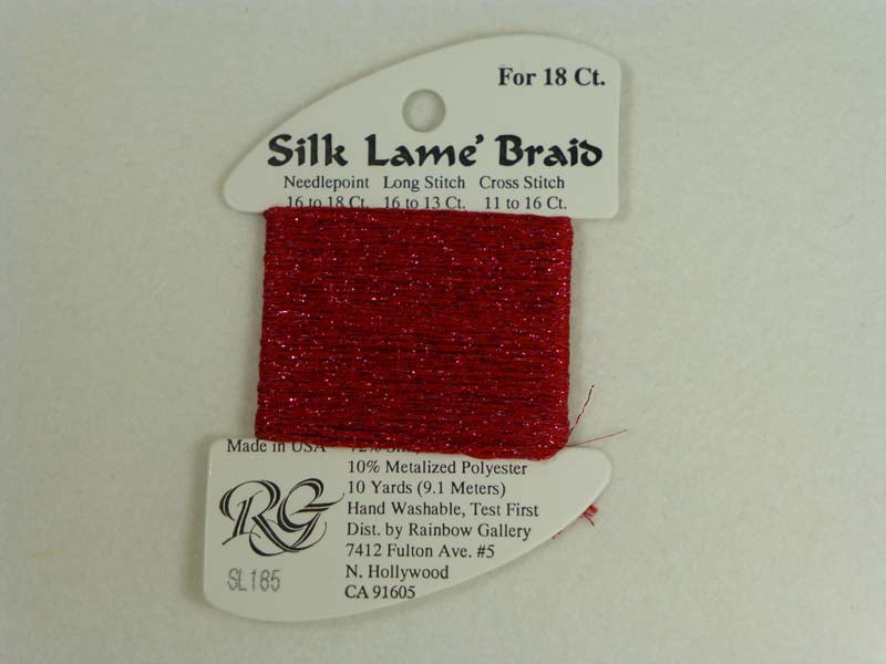 Silk Lame Braid SL185 Tango Red
