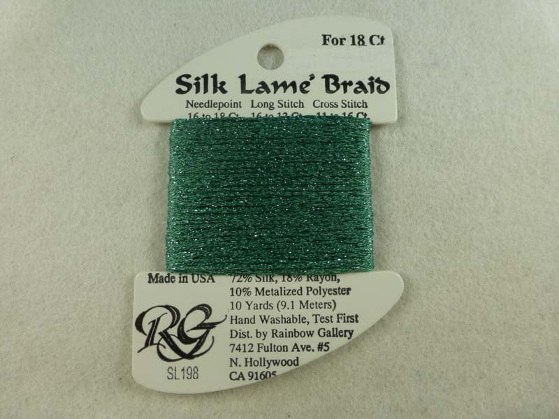 Silk Lame Braid SL198 Wasabi