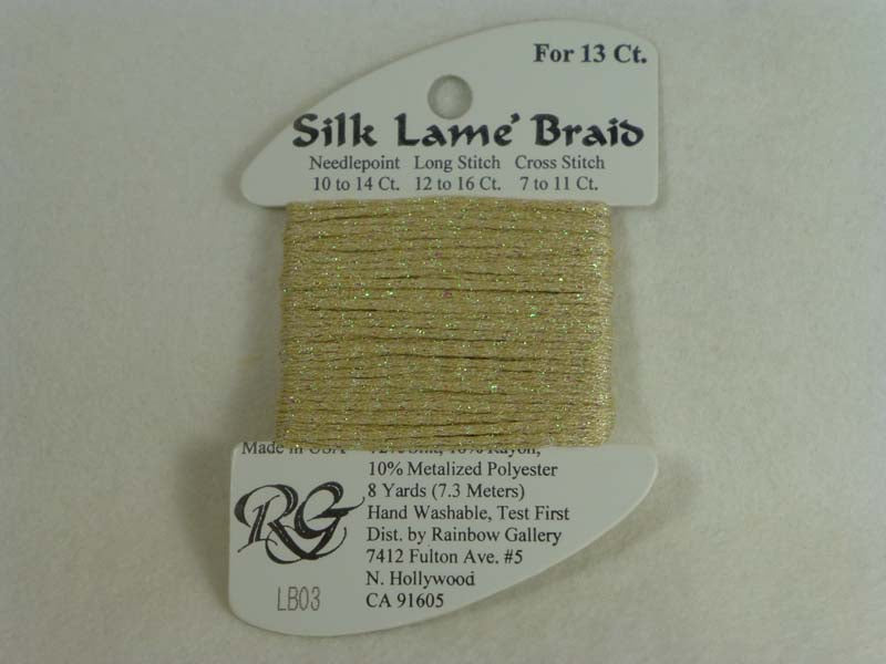 Silk Lame Braid LB03 Ecru