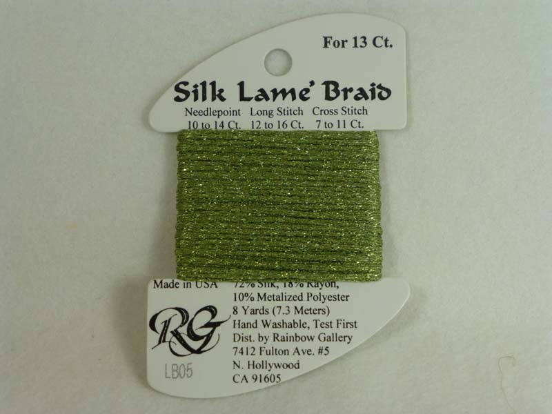 Silk Lame Braid LB05 Avocado