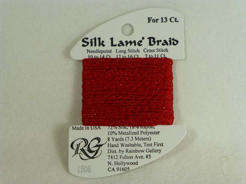 Silk Lame Braid LB08 Red