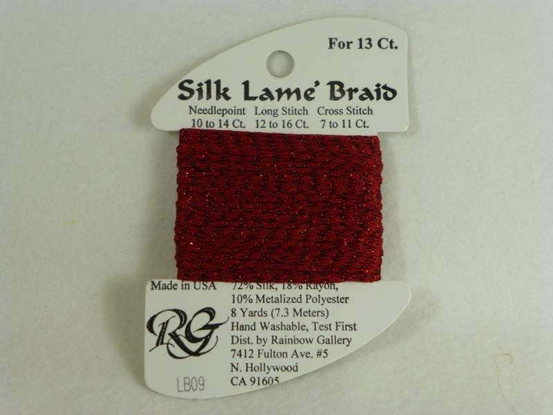 Silk Lame Braid LB09 Dark Red