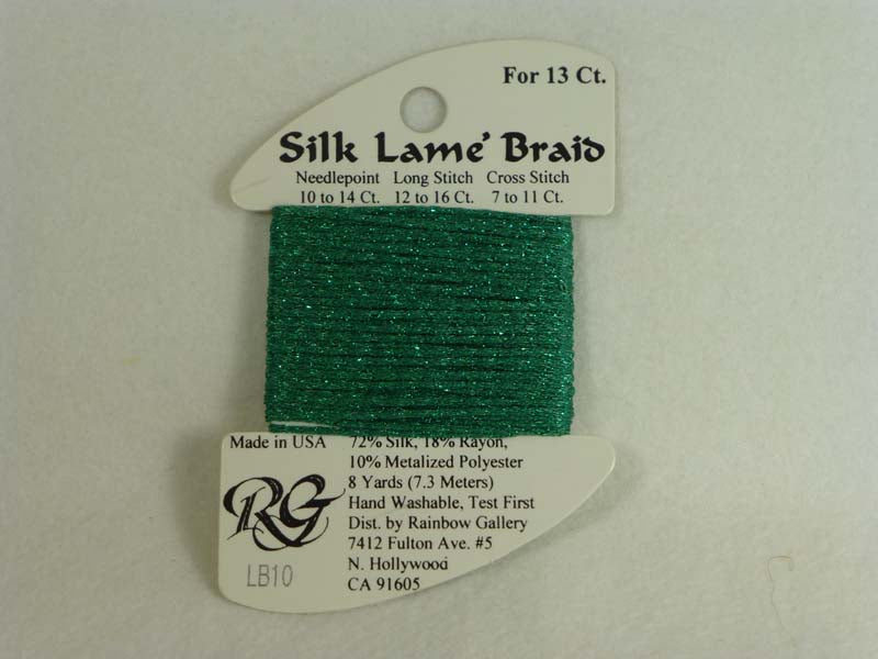 Silk Lame Braid LB10 Green