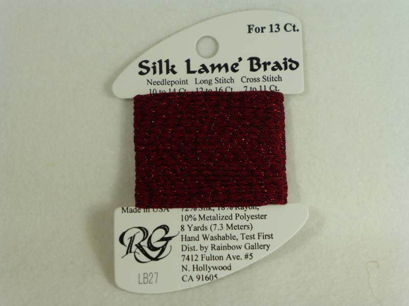 Silk Lame Braid LB27 Garnet