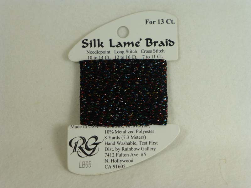 Silk Lame Braid LB65 Black Sparkle