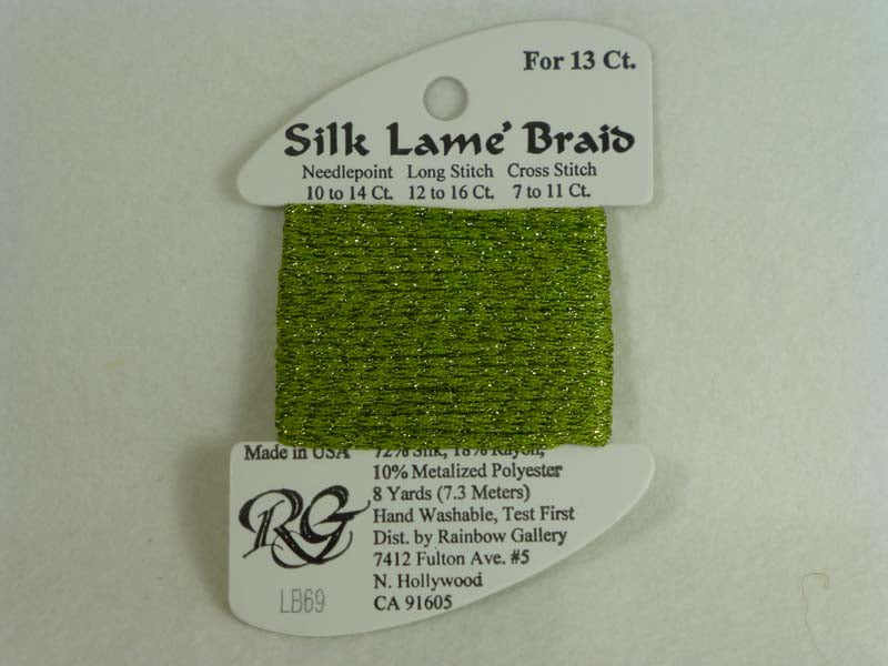 Silk Lame Braid LB69 Medium Avocado