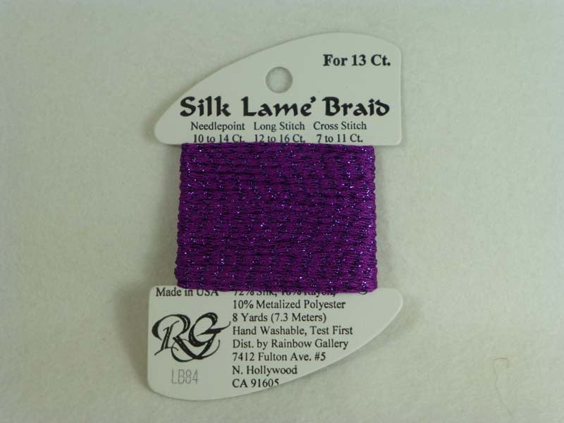 Silk Lame Braid LB84 Dark Orchid