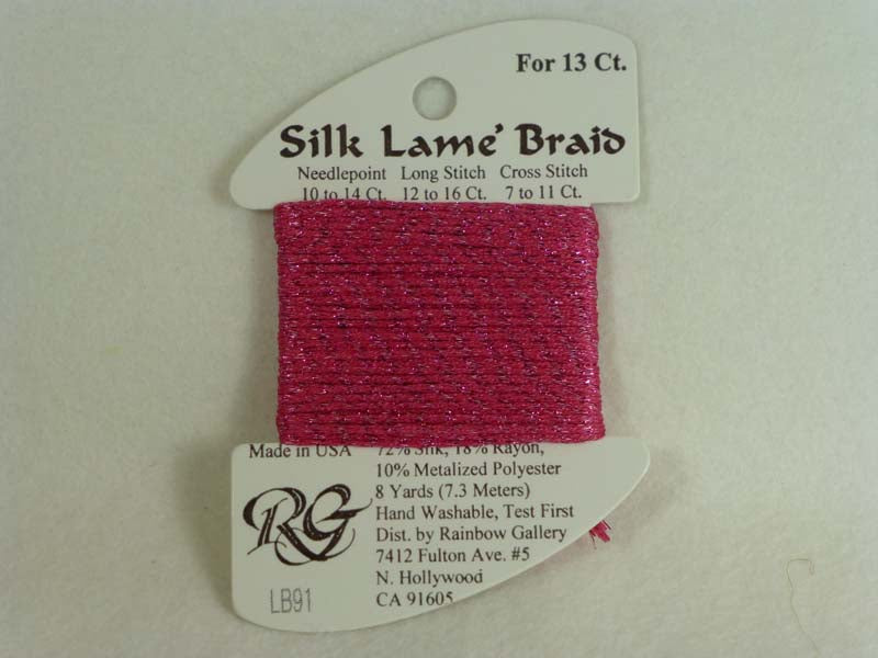 Silk Lame Braid LB91 Dark Raspberry