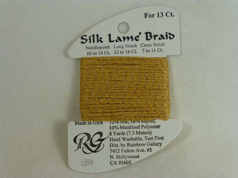 Silk Lame Braid LB94 True Gold