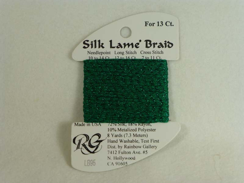 Silk Lame Braid LB95 Medium Christmas Green