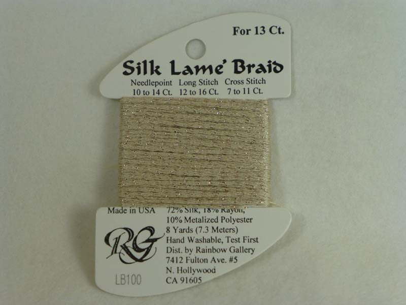 Silk Lame Braid LB100 Sand