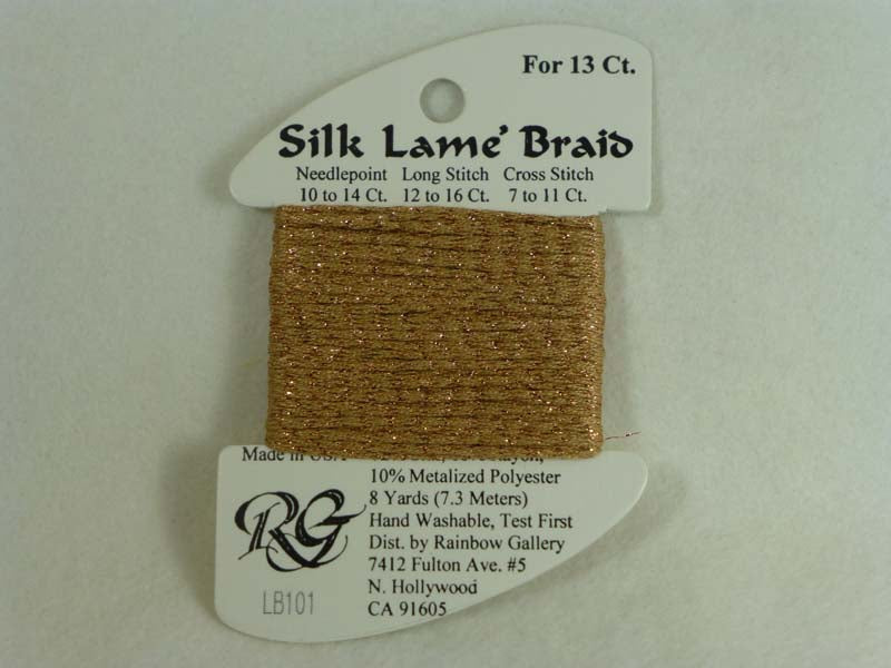 Silk Lame Braid LB101 Honey Bronze
