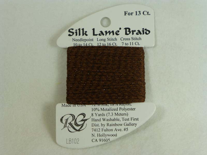 Silk Lame Braid LB102 Warm Brown