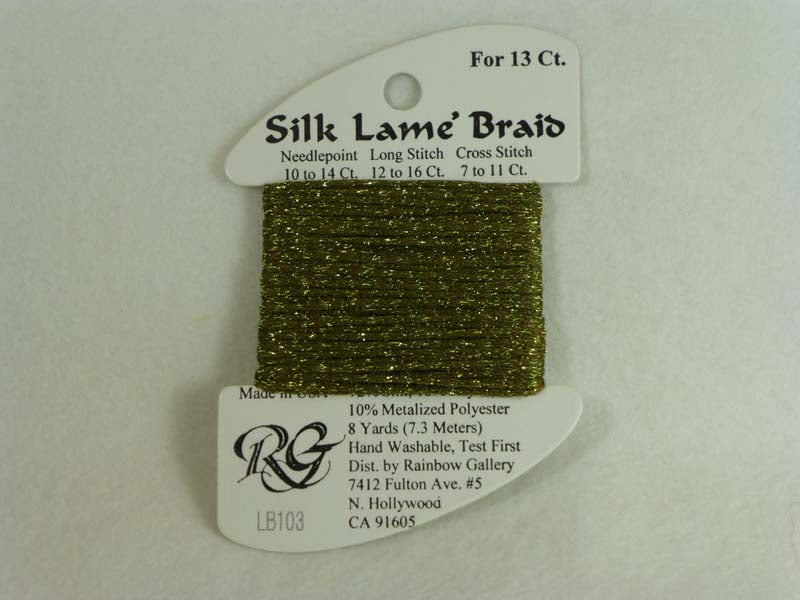 Silk Lame Braid LB103 Olive