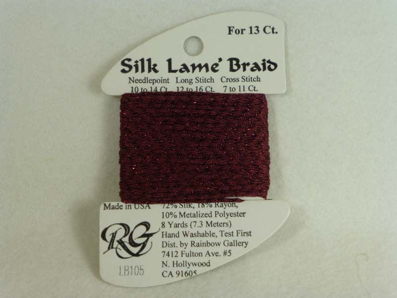 Silk Lame Braid LB105 Wine