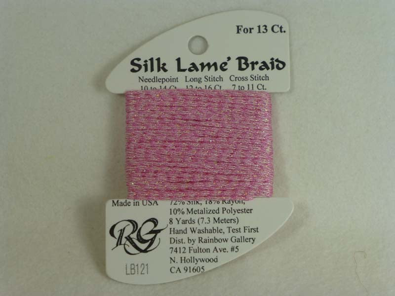 Silk Lame Braid LB121 Medium Raspberry