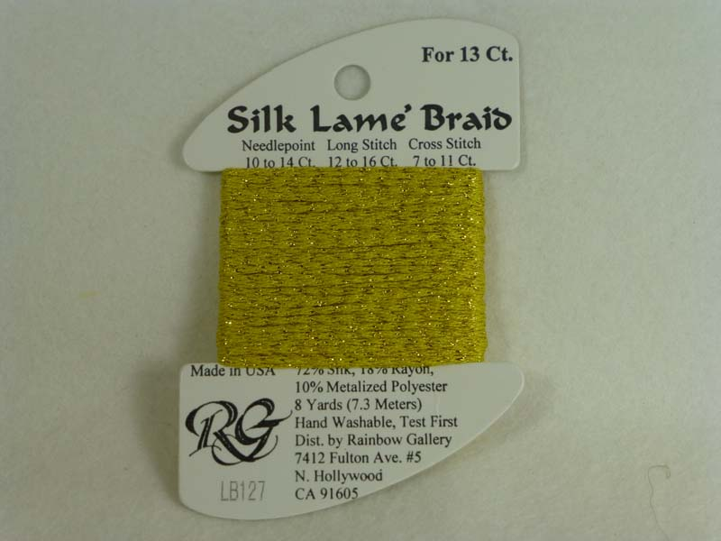 Silk Lame Braid LB127 Golden Yellow