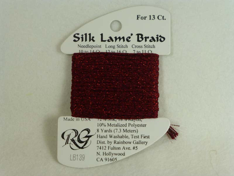 Silk Lame Braid LB139 Cardinal