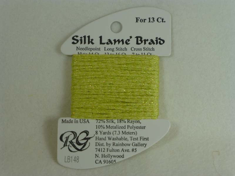 Silk Lame Braid LB148 Lemon Lite