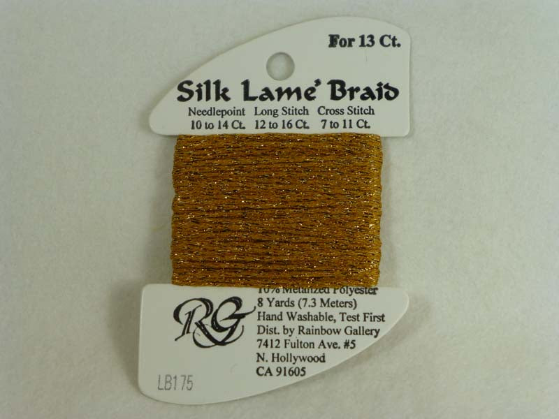 Silk Lame Braid LB175 Honey Gold