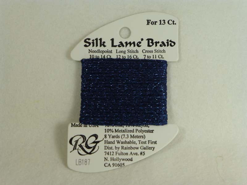 Silk Lame Braid LB187 Mood Indigo