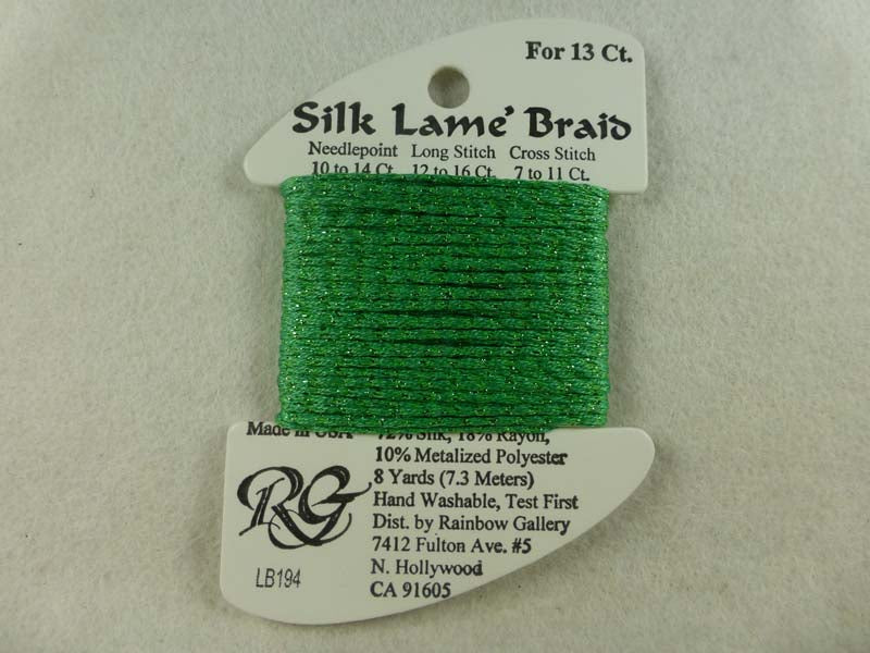 Silk Lame Braid LB194 Greenbriar