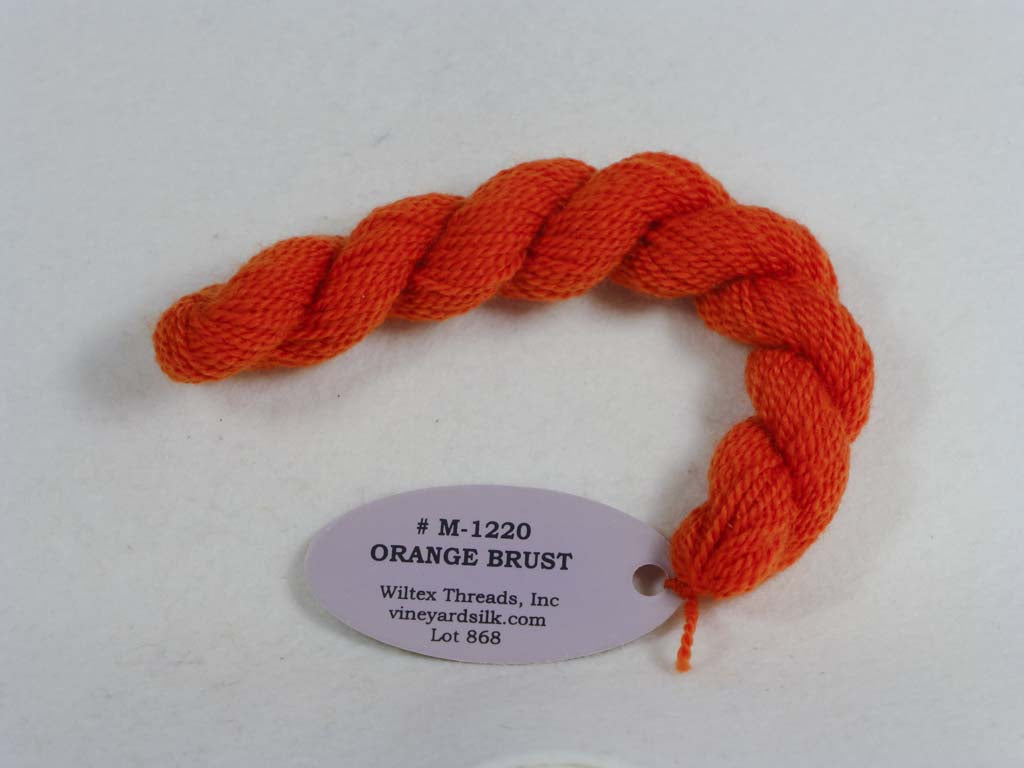 Vineyard Merino 1220 Orange Burst by Wiltex Threads From Beehive Needle Arts