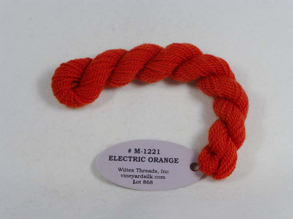 Vineyard Merino 1221 Electric Orange by Wiltex Threads From Beehive Needle Arts