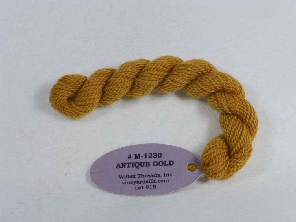 Vineyard Merino 1230 Antique Gold by Wiltex Threads From Beehive Needle Arts