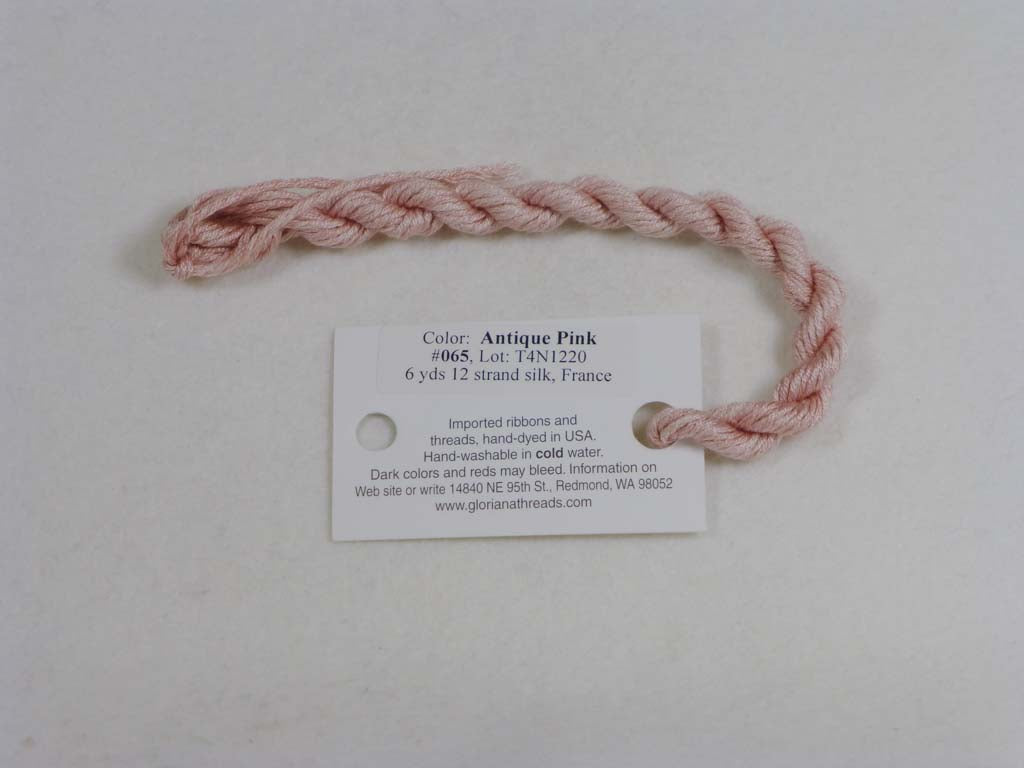 Gloriana Silk Floss 065 Antique Pink by Gloriana From Beehive Needle Arts