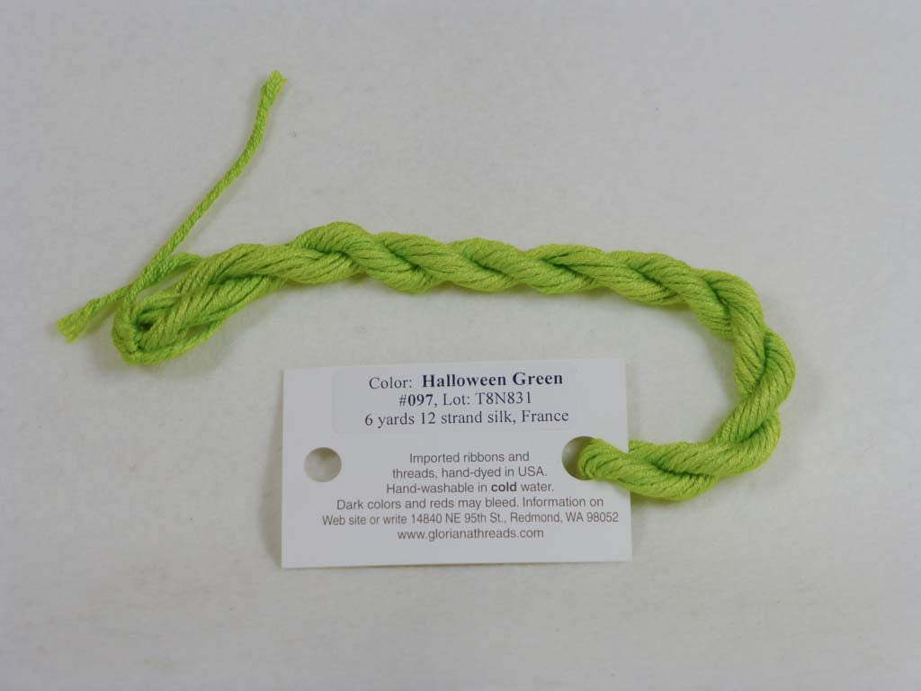 Gloriana Silk Floss 097 Halloween Green by Gloriana From Beehive Needle Arts