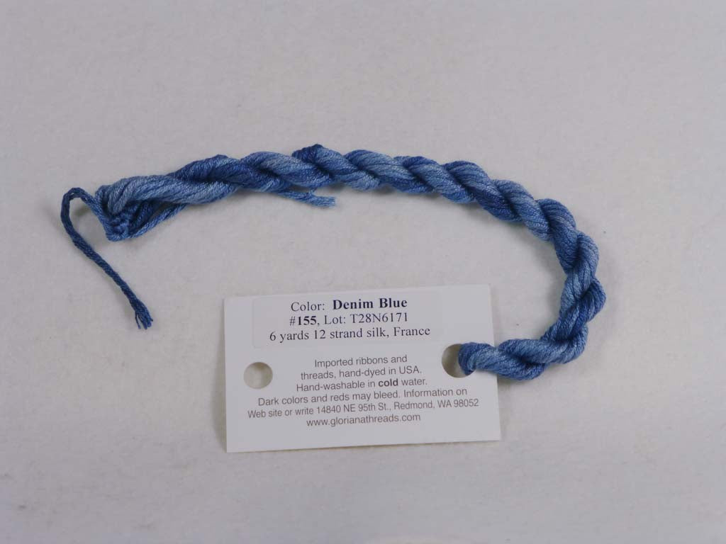 Gloriana Silk Floss 155 Demin Blue by Gloriana From Beehive Needle Arts