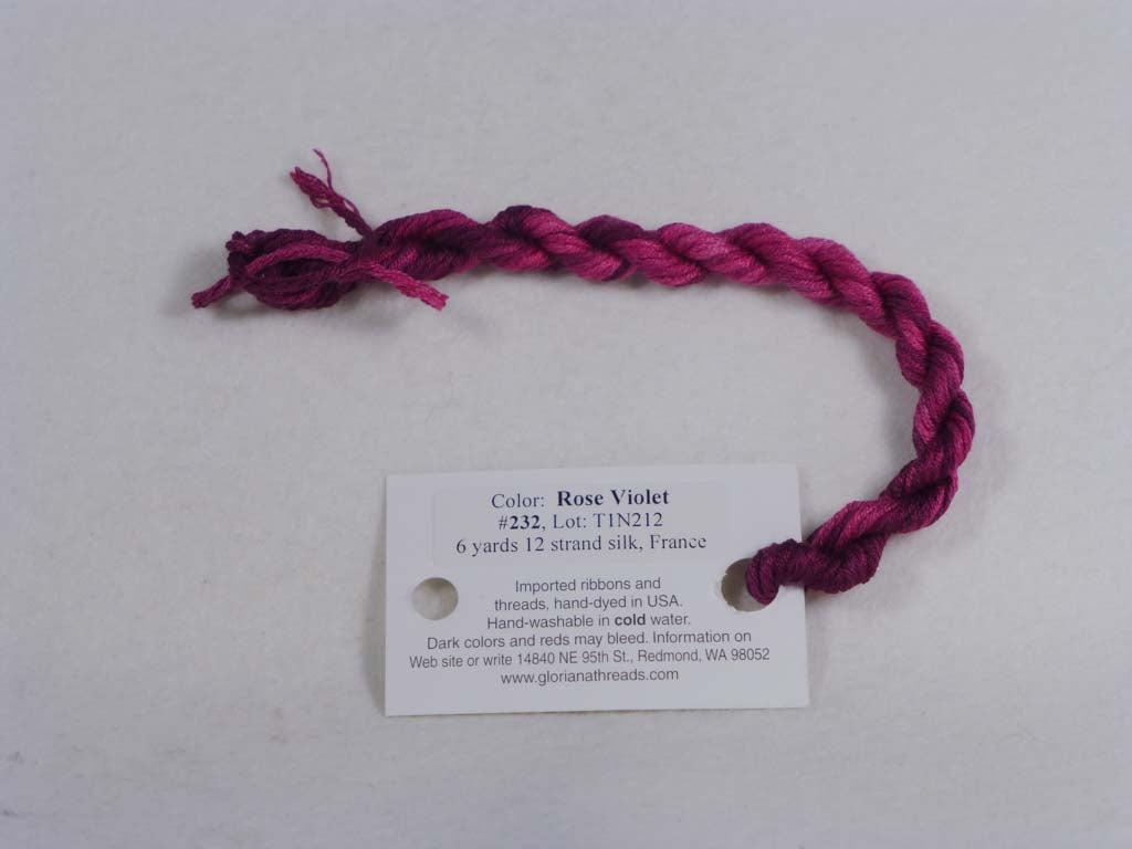 Gloriana Silk Floss 232 Rose Violet by Gloriana From Beehive Needle Arts