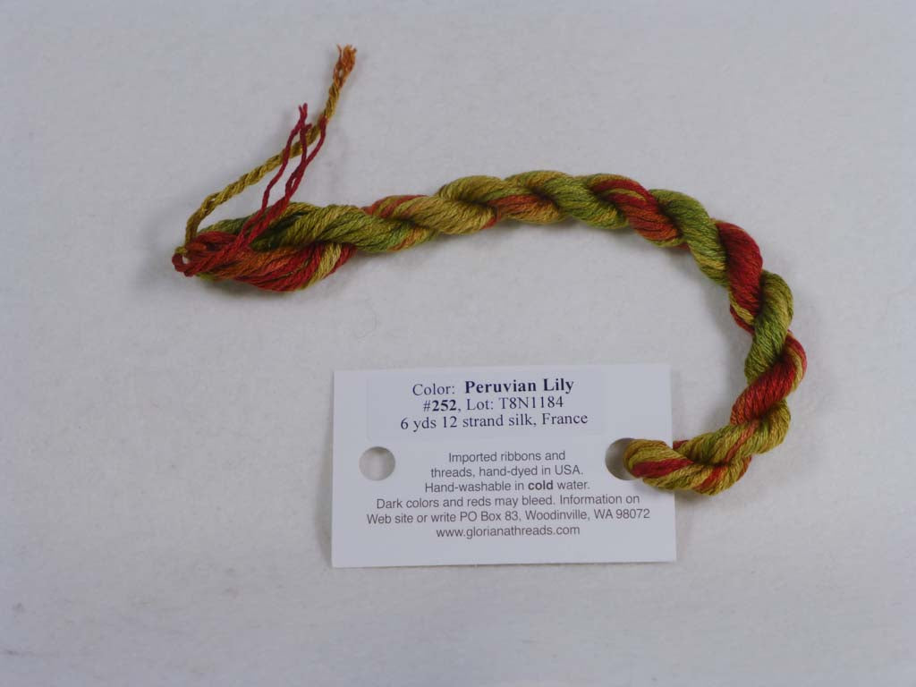 Gloriana Silk Floss 252 Peruvian Lily by Gloriana From Beehive Needle Arts