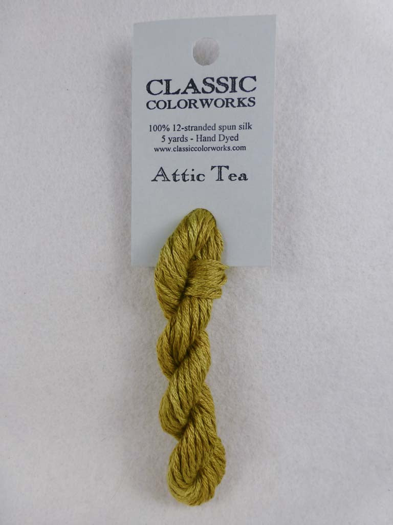 Belle Soie 001 Attic Tea by Hoffman Distributing From Beehive Needle Arts