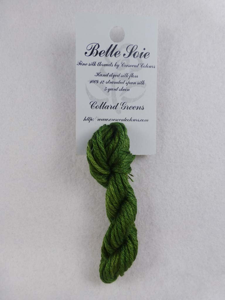 Belle Soie 007 Collard Greens by Hoffman Distributing From Beehive Needle Arts