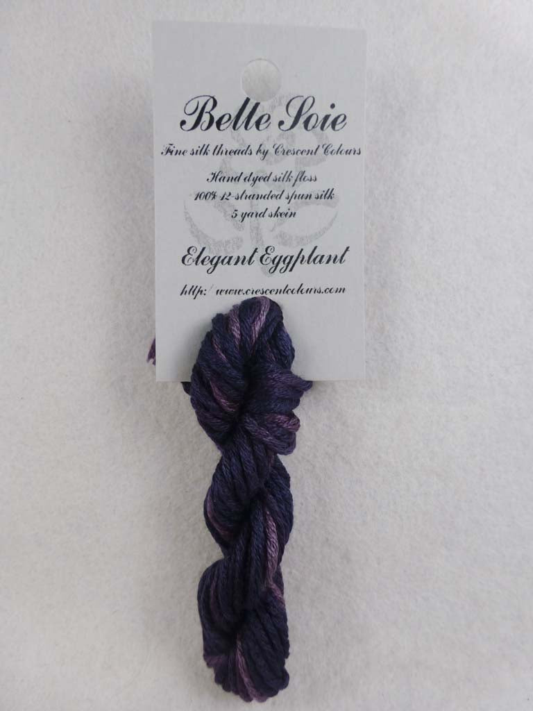 Belle Soie 009 Elegant Eggplant by Hoffman Distributing From Beehive Needle Arts