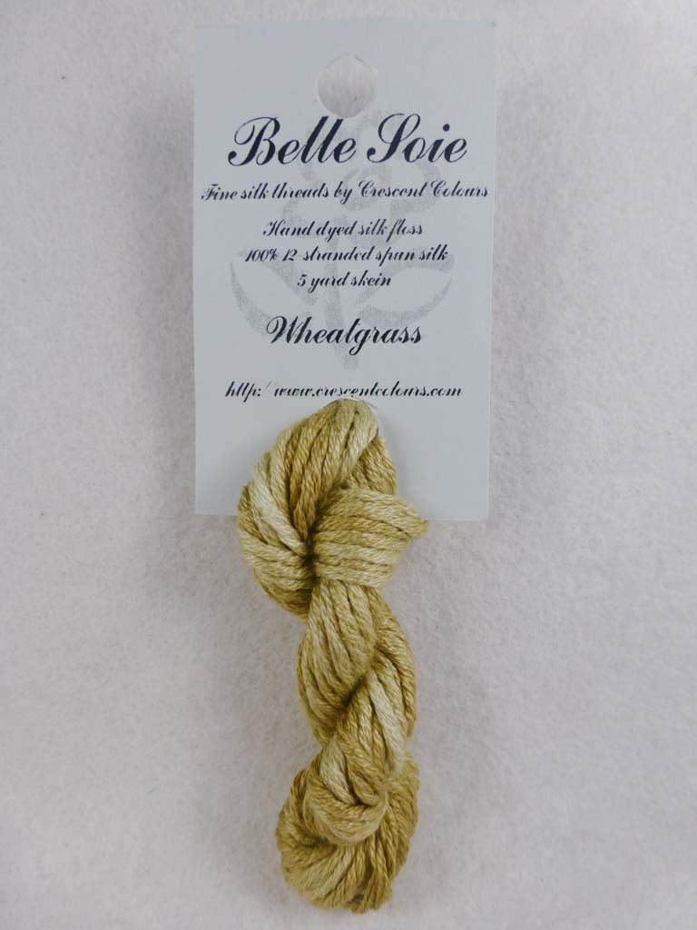 Belle Soie 025 Wheatgrass by Hoffman Distributing From Beehive Needle Arts