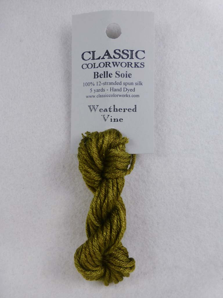 Belle Soie 106 Weathered Vine by Hoffman Distributing From Beehive Needle Arts