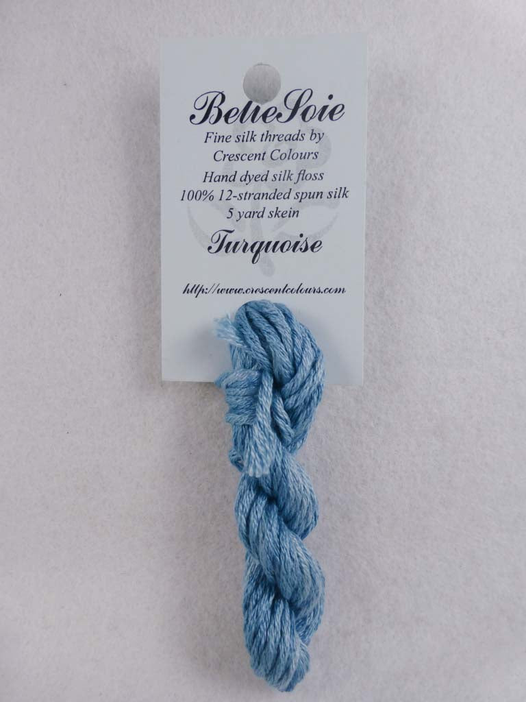Belle Soie 116 Turquoise by Hoffman Distributing From Beehive Needle Arts