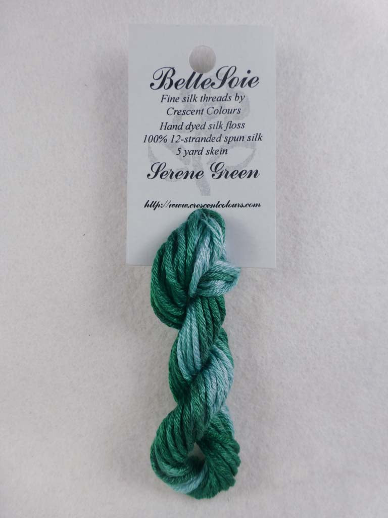 Belle Soie 119 Serene Green by Hoffman Distributing From Beehive Needle Arts