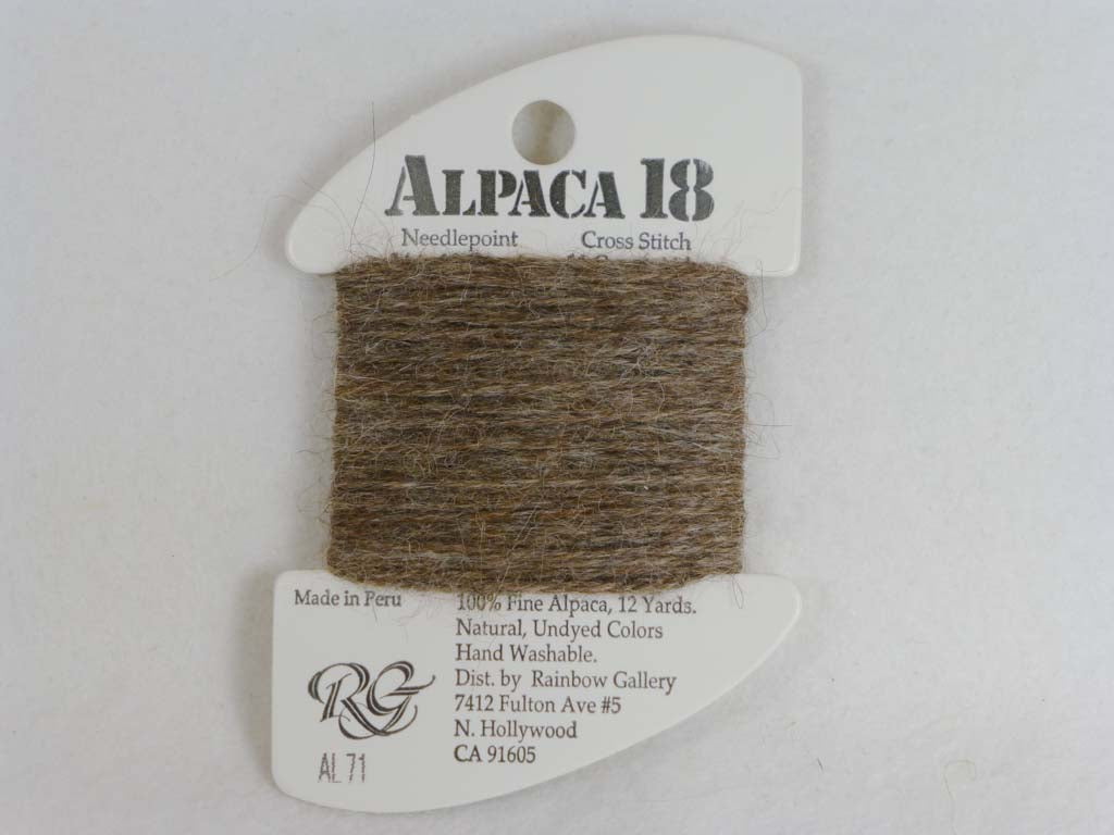 Alpaca 18 AL71 Dark Taupe by Rainbow Gallery From Beehive Needle Arts