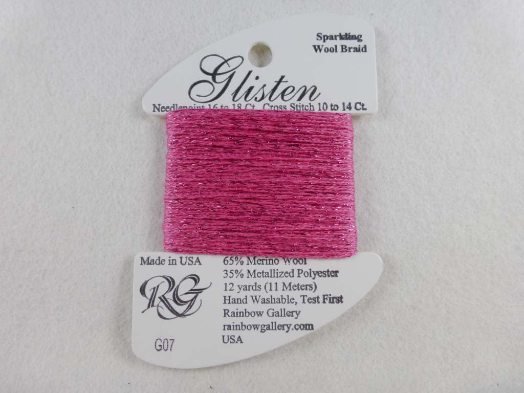 Glisten G07 Paris Pink by Rainbow Gallery From Beehive Needle Arts