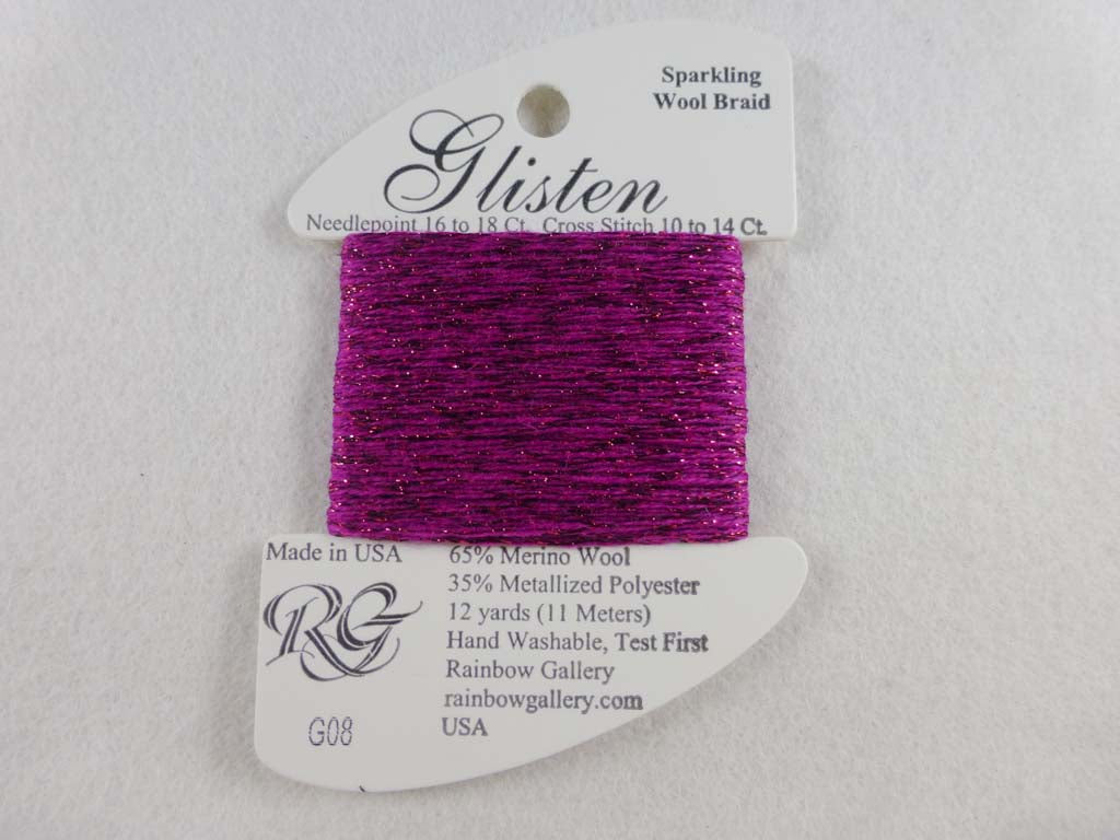 Glisten G08 Radiant Orchid by Rainbow Gallery From Beehive Needle Arts