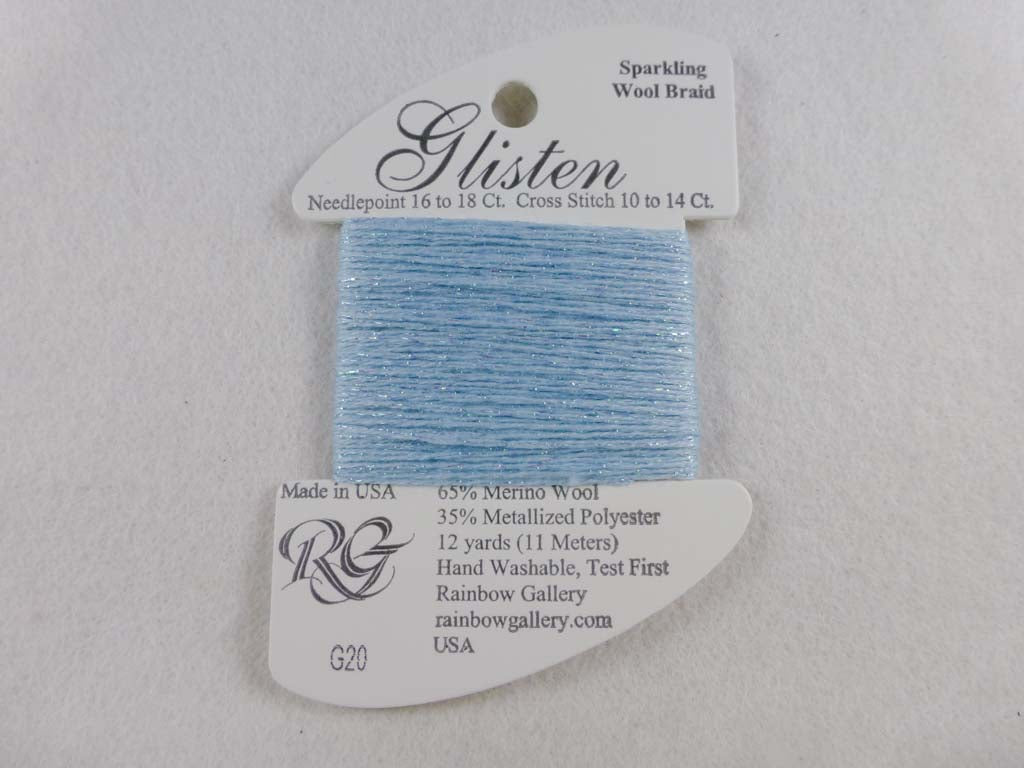 Glisten G20 Blue Twinkle by Rainbow Gallery From Beehive Needle Arts