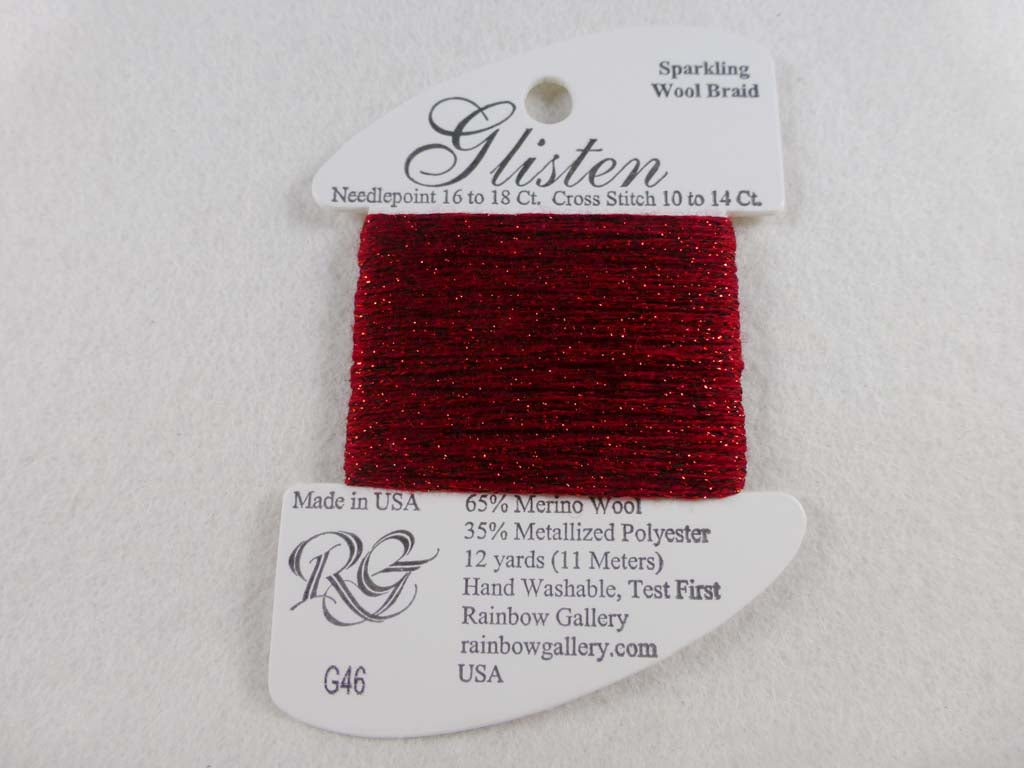 Glisten G46 Crimson by Rainbow Gallery From Beehive Needle Arts