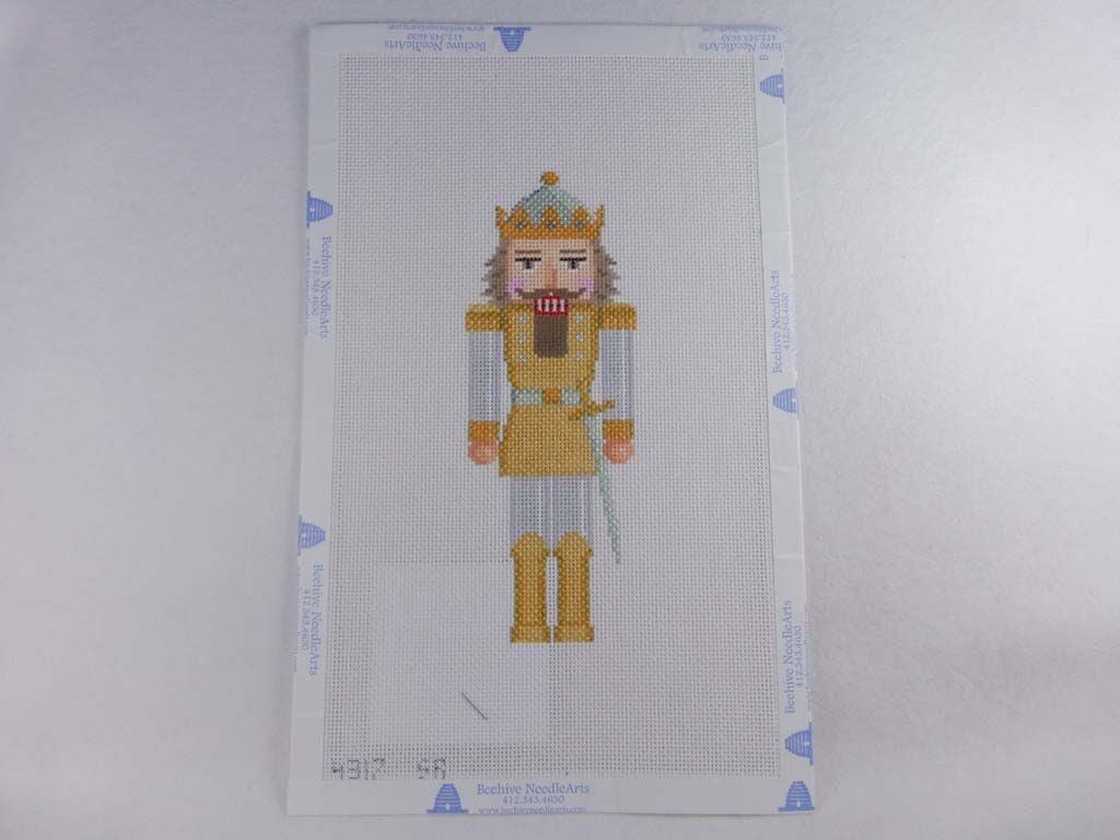 Susan Roberts Needlepoint Design, Inc. 4317 Silver & Gold Nutcracker