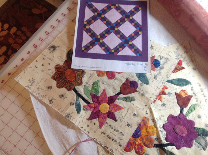 My Process in Designing an Applique Quilt