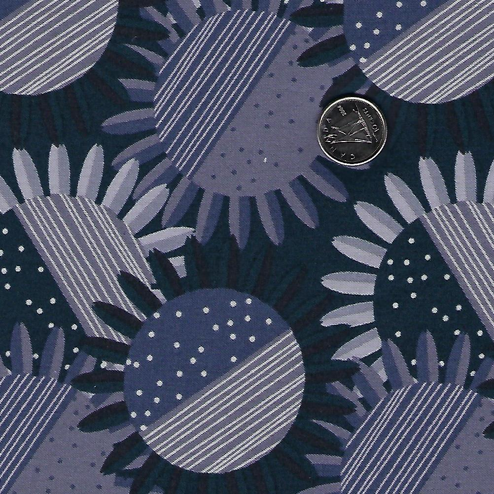 Rosewood par meags & me pour Clothworks - Light Navy Sunflowers