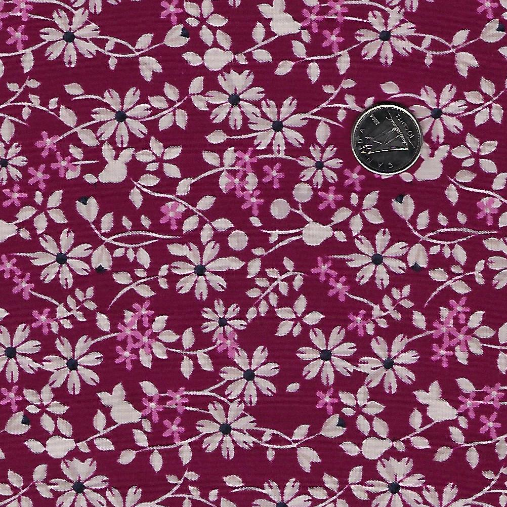 Rosewood by meags & me for Clothworks - Wine Vine Floral